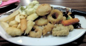 Seafood basket at Pot Parham Sport Centre