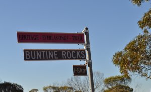 Buntine Rocks Sign